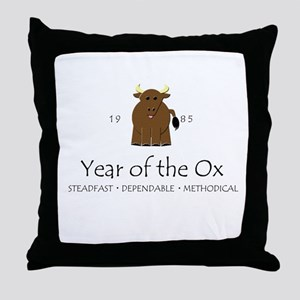 """""""Year of the Ox"""" [1985] Throw Pillow"""
